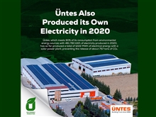 Üntes also produced its own electricity in 2020.